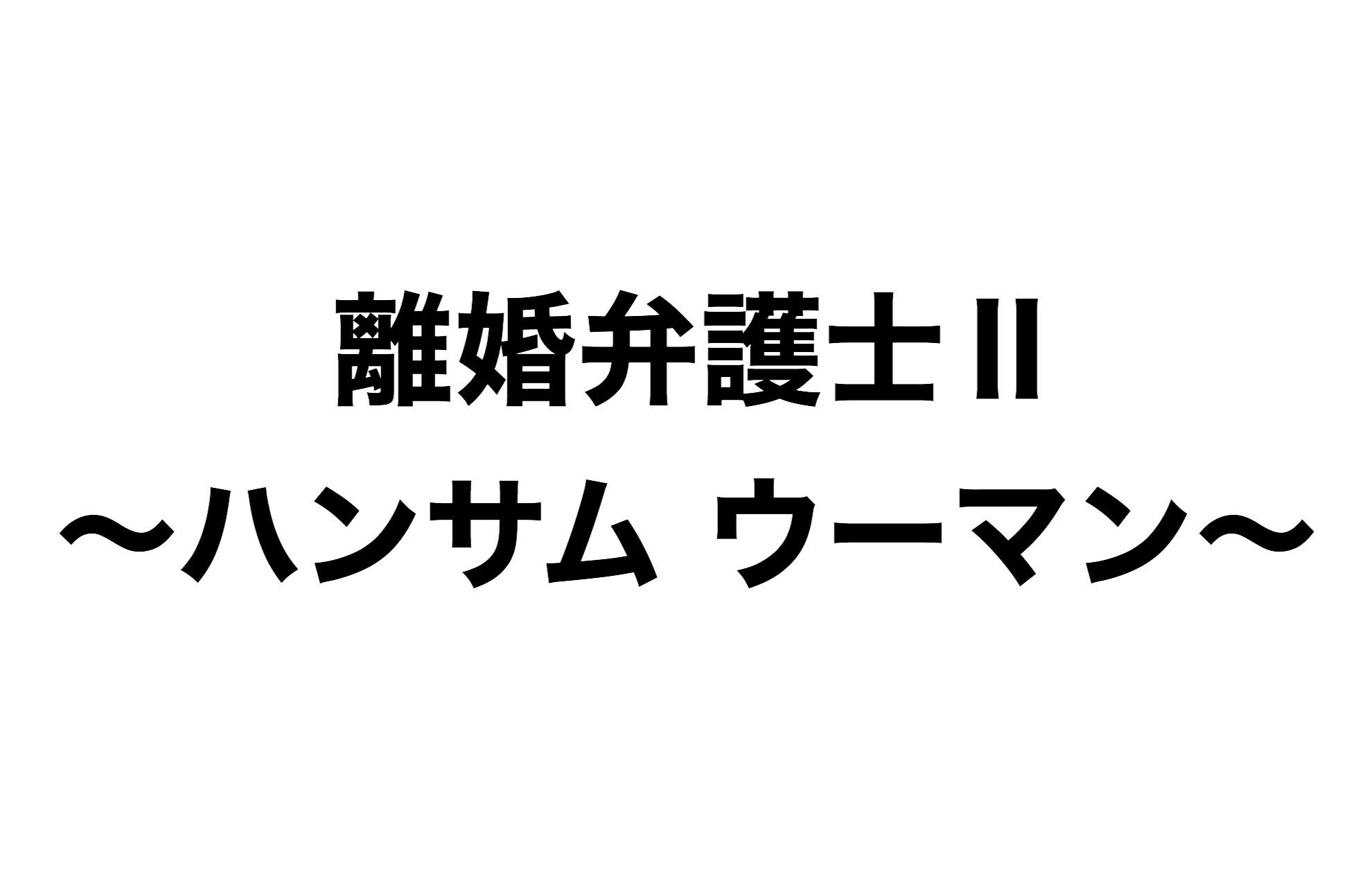 離婚弁護士Ⅱ~ハンサム・ウーマン~再放送予定【2020年最新版】